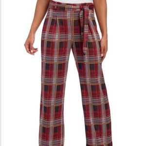 🆕Plaid Belted Trouser